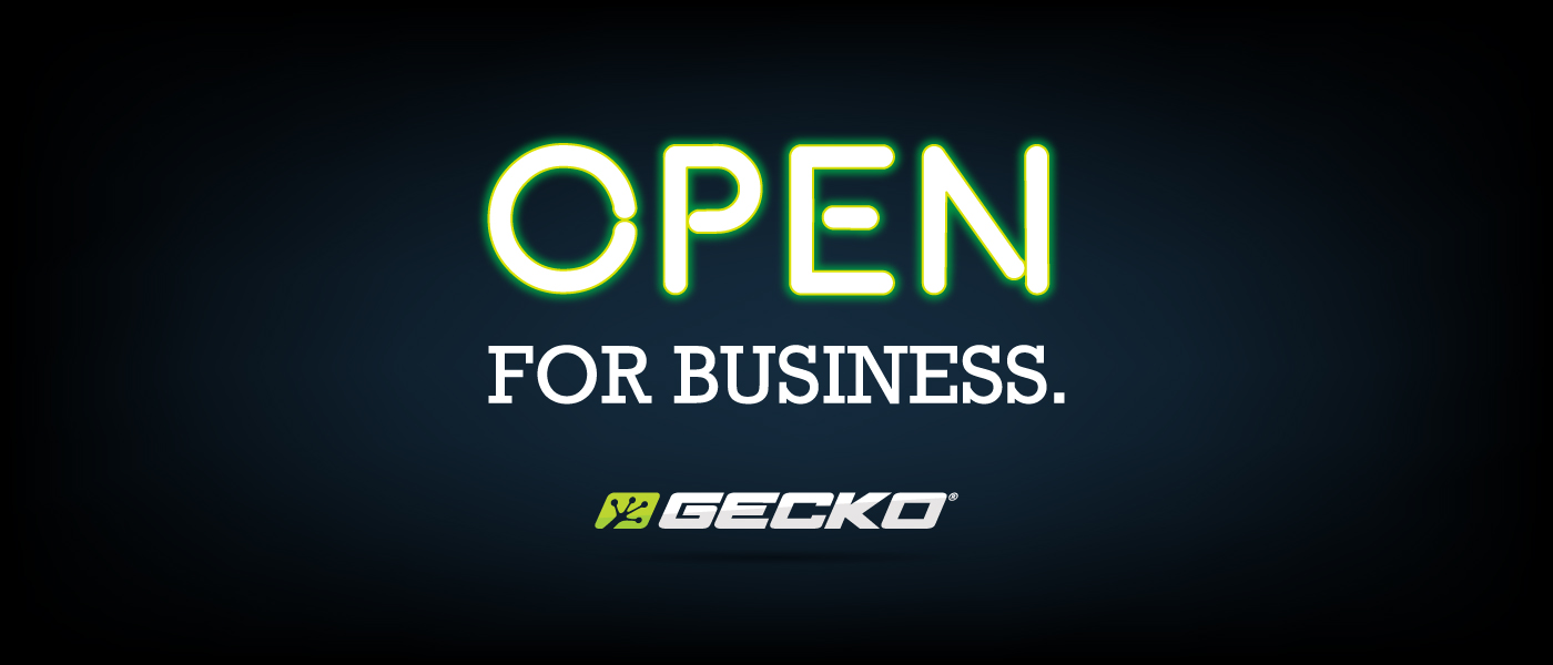 Gecko Open for Business